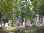 St Andrew's Old Church, Kingsbury, and graveyard with cleared path (480x360)