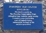 St Andrew's Old Church, Kinsbury, Churches Conservation Trust notice (120x168)